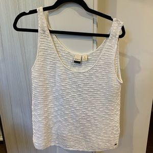 white roxy tank top